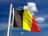 Belgium flag (with clipping path)