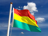 Bolivia flag (with clipping path)