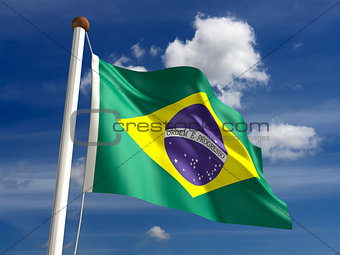Brazilian flag (with clipping path)