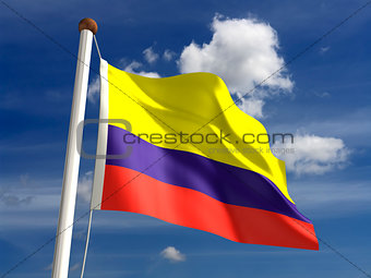 Colombia flag (with clipping path)