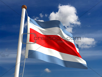 Costa Rica flag (with clipping path)