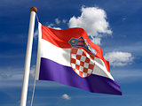 Croatia flag (with clipping path)