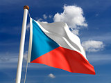 Czech Republic flag (with clipping path)