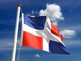Dominican Republic flag (with clipping path)