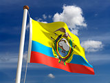 Equador flag (with clipping path)