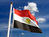 Egypt flag (with clipping path)