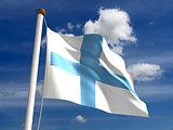 Finland flag (with clipping path)