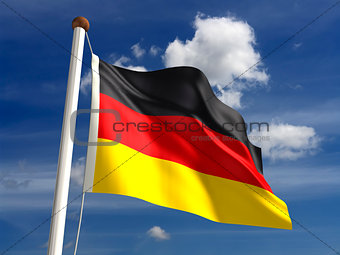 Germany flag (with clipping path)