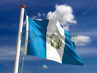 Guatemala flag (with clipping path)