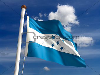 Honduras flag (with clipping path)