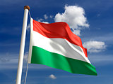 Hungary flag (with clipping path)
