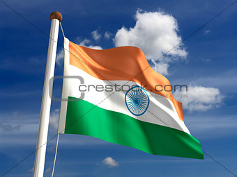 India flag (with clipping path)