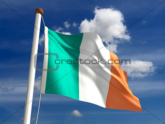 Ireland flag (with clipping path)