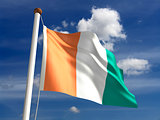 Ivory Coast flag (with clipping path)