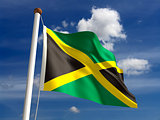 Jamaica flag (with clipping path)