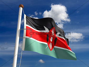 Kenya flag (with clipping path)