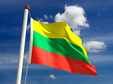 Lithuania flag (with clipping path)
