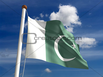 Pakistan flag (with clipping path)