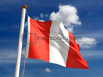 Peru flag (with clipping path)