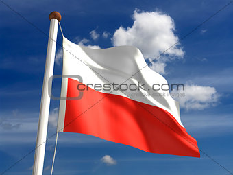 Poland flag (with clipping path)