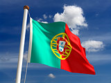 Portugal flag (with clipping path)