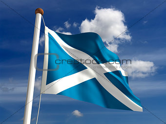 Scotland flag (with clipping path)