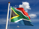 South Africa flag (with clipping path)