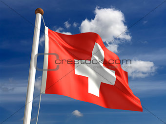 Switzerland flag (with clipping path)
