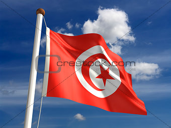 Tunisia flag (with clipping path)