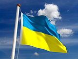 Ukraine flag (with clipping path)