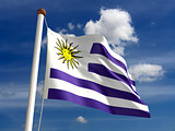 Uruguay flag (with clipping path)