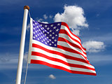 USA flag (with clipping path)