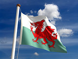 Wales flag (with clipping path)