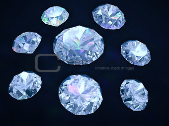 Diamonds on dark blue background