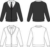 Cardigan with necktie