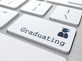 Graduating Button - Education Concept.