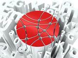 Social Media Simbol on Alphabet Background.