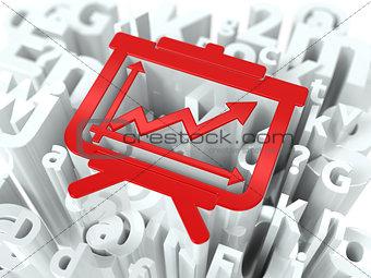 Flipchart on Alphabet Background.
