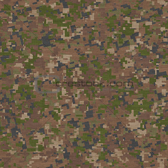 Camouflage in Green and Beige. Seamless Texture.