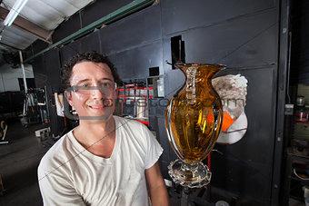 Man Holding Finished Vase