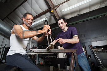 Glass Manufacturing Teamwork