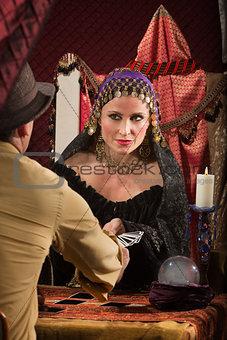 Lady Dealing Tarot Cards