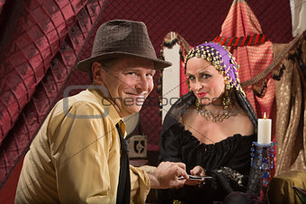 Lucky Man with Fortune Teller