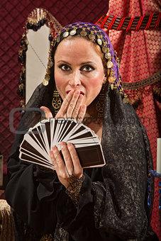 Surprised Female Fortune Teller