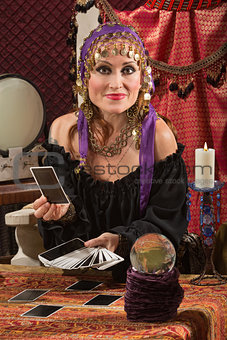 Charming Tarot Card Lady