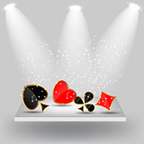 Abstract background with card suits for design. Vector illustrat