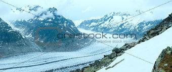 Great Aletsch Glacier (Bettmerhorn, Switzerland) panorama.