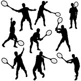Tenis silhouette set