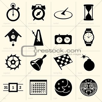 Time object icons