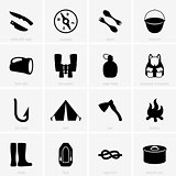 Travel object icons